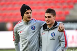 Hatem Ben Arfa (PSG) et Marco Verratti (PSG)
