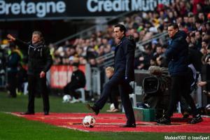 Unai Emery (PSG) est fier de son équipe.