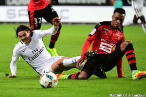 Edinson Cavani (PSG) et Mexer (Rennes