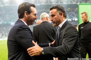 Emery (PSG) et Galtier (ASSE)