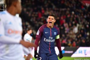 Thiago Silva (PSG) est forfait pour le déplacement à Amiens.