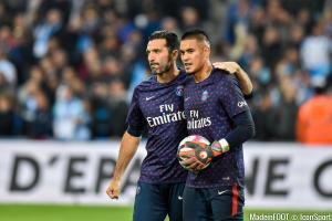 Buffon et Areola se partagent le temps de jeu dans les buts parisiens.