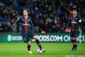 Adrien Rabiot arrive en fin de contrat au Paris Saint-Germain.