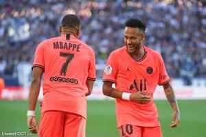 Kylian Mbappé et Neymar (PSG).