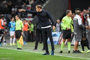 Le groupe du Paris Saint-Germain pour le déplacement sur la pelouse du Montpellier Hérault Sport Club.