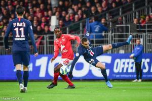 L'album photo du match entre le Stade Brestois 29 et le Paris Saint-Germain.
