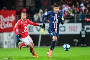 Thiago Silva ne sera pas dans le groupe pour le match de Coupe de France.