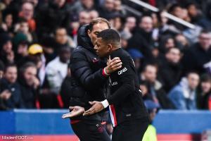 Mbappé était très énervé à sa sortie contre Montpellier samedi.