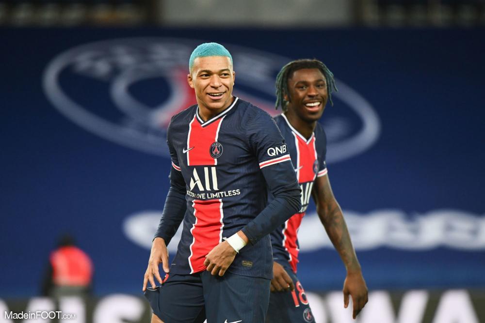 Le PSG s'impose face à Lorient grâce à des buts de Kylian Mbappé et de Kean