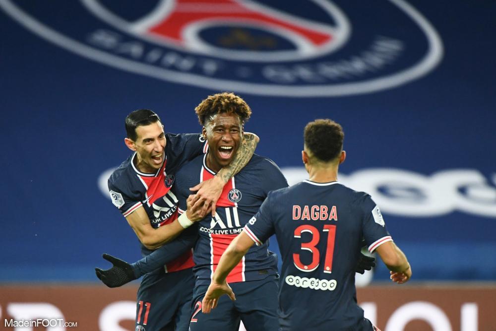 Paris cartonne Strasbourg, Pembélé a marqué son premier but
