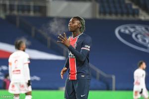 Moise Kean souhaite rester au Paris SG l'année prochaine