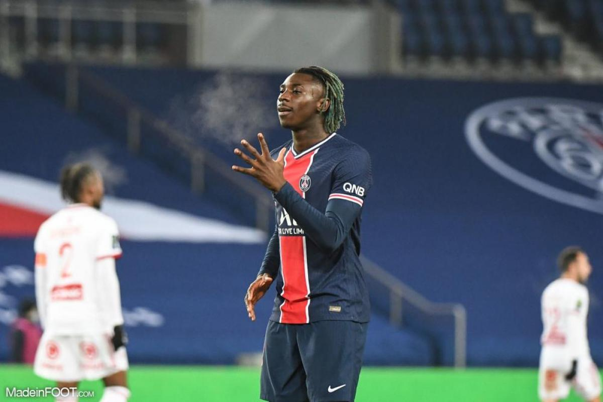 Le PSG s'offre Brest, Moise Kean a inscrit le premier but