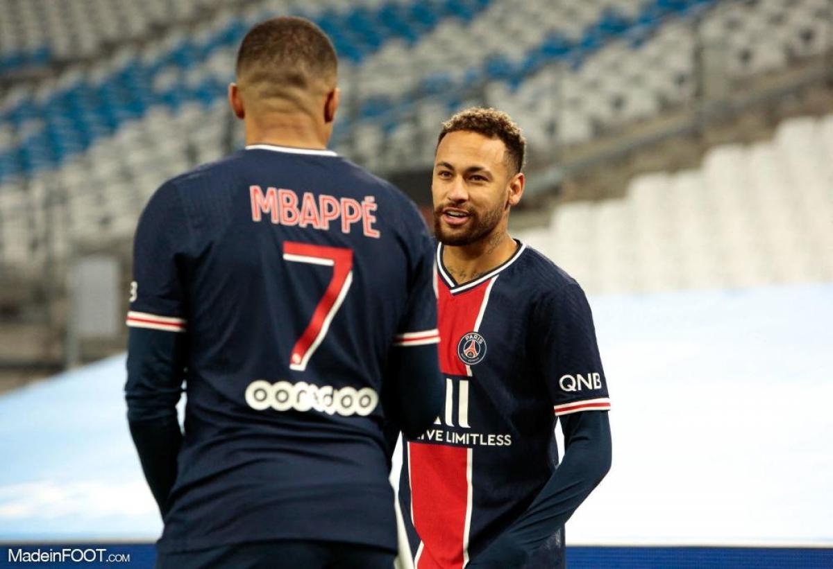 Neymar et Mbappé face à Marseille