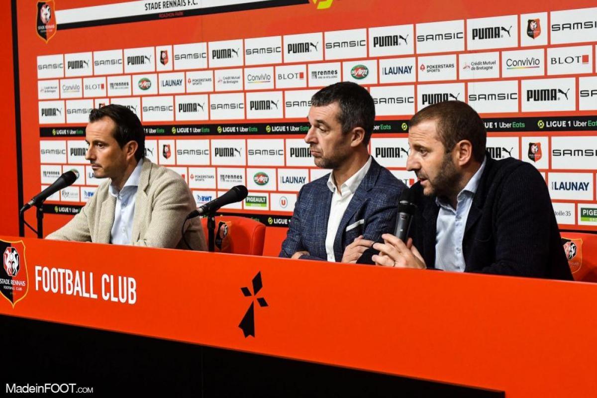 Florian Maurice, le directeur sportif du Stade Rennais FC, ici à droite.