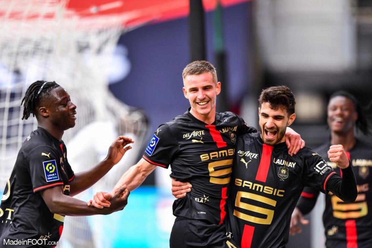 Rennes est actuellement septième de Ligue 1, à deux longueurs du cinquième Marseille