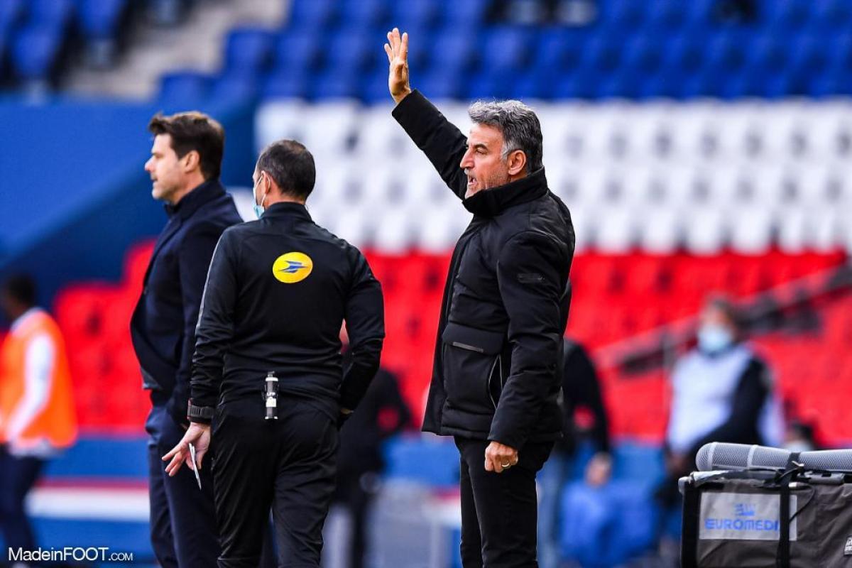 Christophe Galtier ne voit pas le PSG perdre des points dans la course au titre.