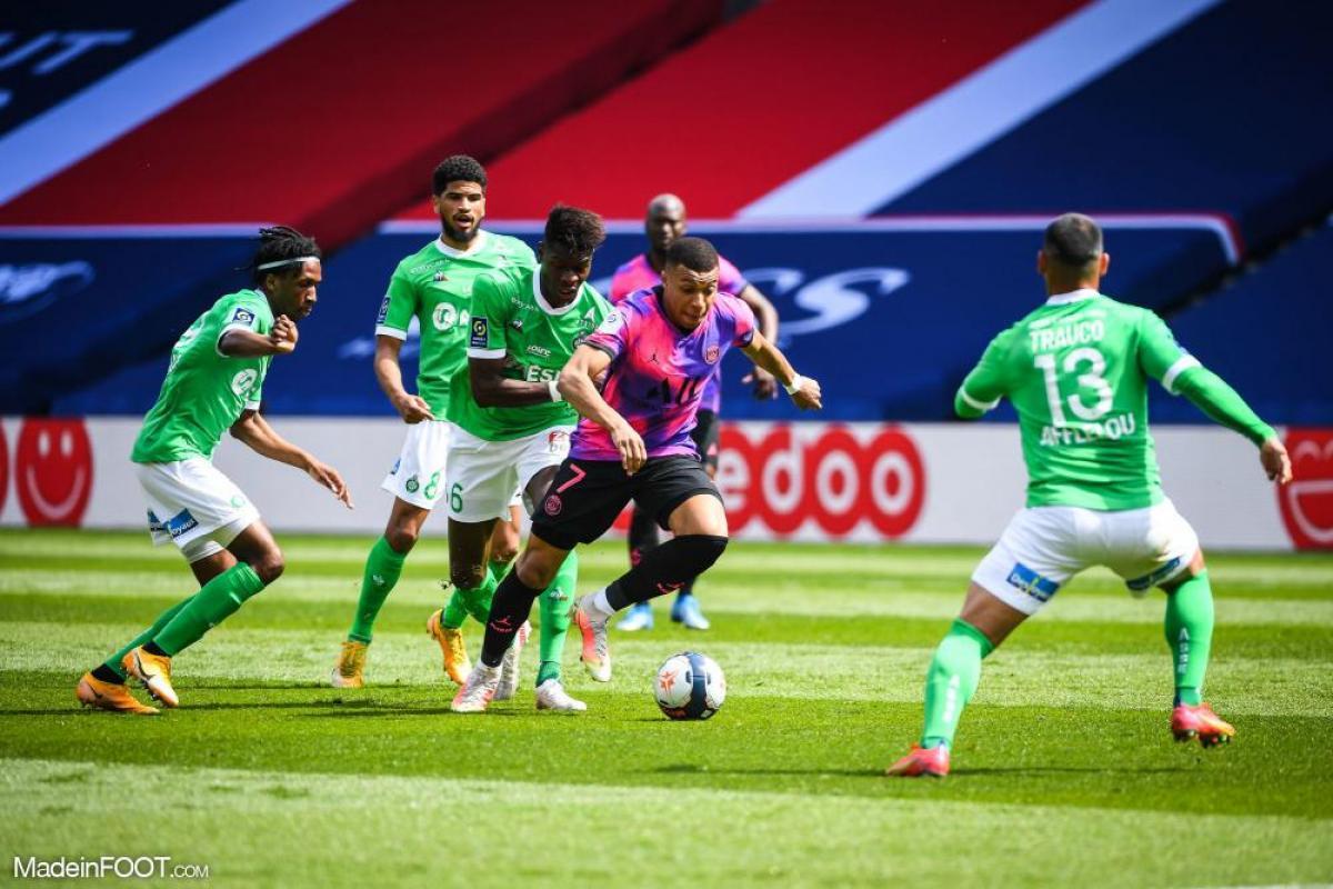 Kylian Mbappé, l'attaquant du PSG.