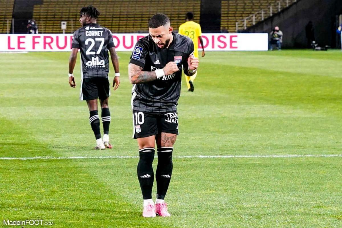 Memphis Depay a évolué de 2017 à 2021 en Ligue 1, sous les couleurs de l'Olympique Lyonnais