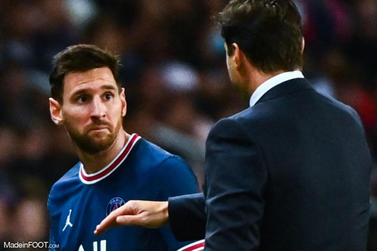 Mauricio Pochettino, l'entraîneur du Paris Saint-Germain, ici aux côtés de Lionel Messi.