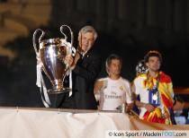 Parade du Real Madrid - Carlo Ancelotti - 25.05.2014 - Celebration de la victoire - Champions League 2014 - Place Cibeles - Madrid