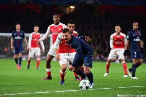 Verratti (PSG) et Coquelin (Arsenal)