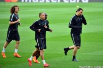 Zlatan IBRAHIMOVIC / Zoumana CAMARA / Gregory VAN DER WIEL / David LUIZ  - 20.04.2015 - Entrainement du Paris Saint Germain  - Champions League
