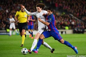 Rabiot (PSG) et Suarez (FCB)