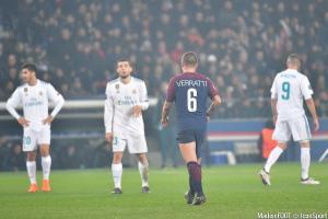 Verratti et le PSG ont été sortis de la C1 par le Real Madrid.