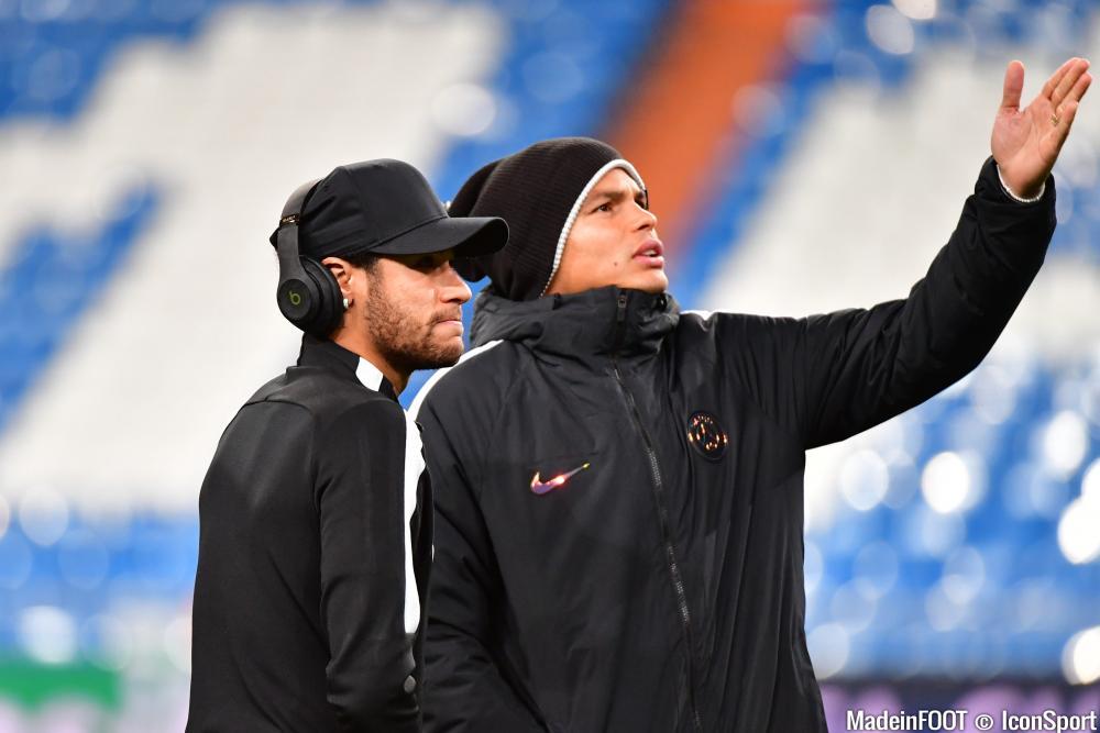 Thiago Silva avec Neymar