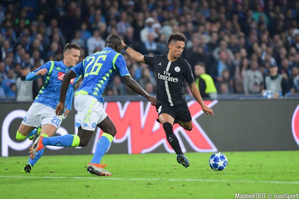 Thilo Kehrer lors d'un match de Ligue des Champions avec le PSG
