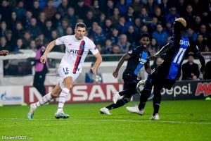 L'album photo du match entre le Club Bruges et le Paris Saint-Germain.