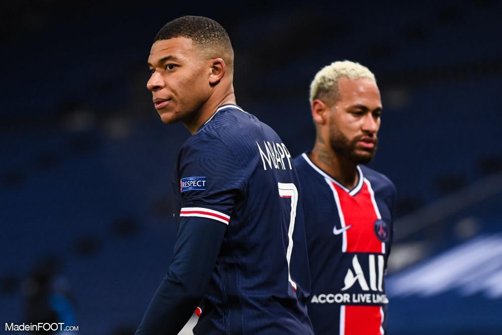 Mbappé avec Neymar