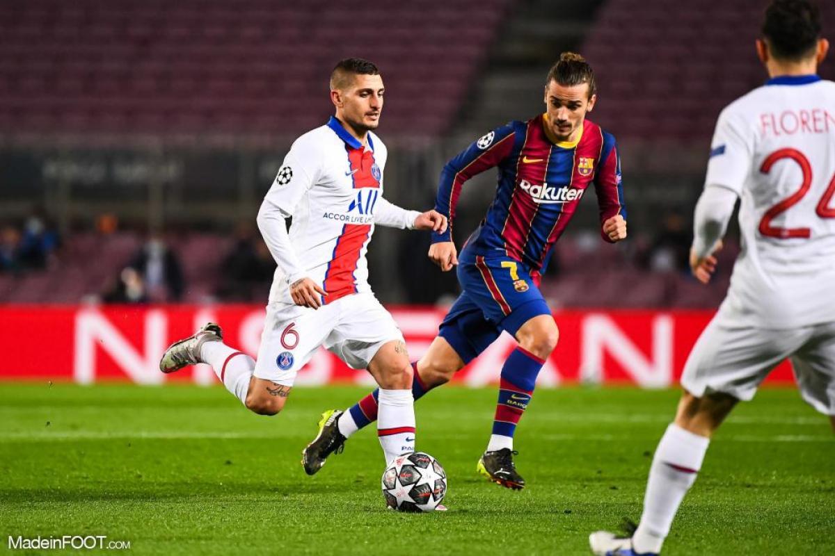 Cette saison, Marco Verratti a participé à six rencontres de Ligue des Champions