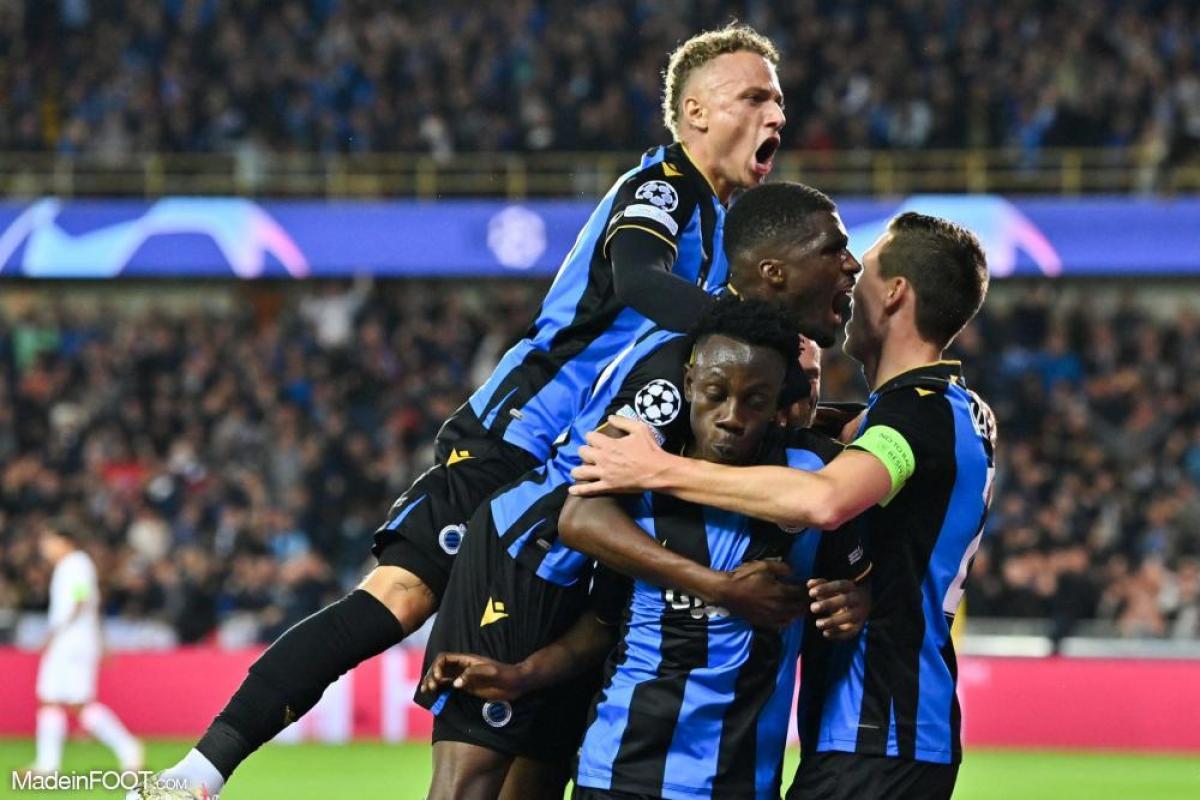 Joie des joueurs de Bruges