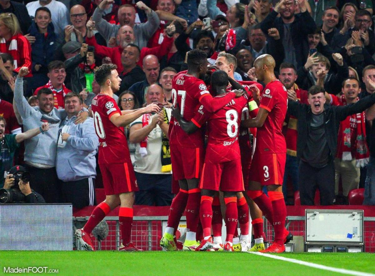 Joie des joueurs de Liverpool