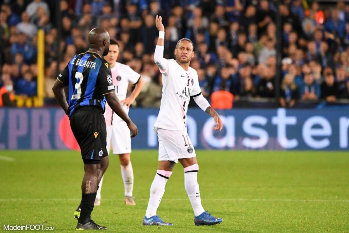 Neymar face à Bruges
