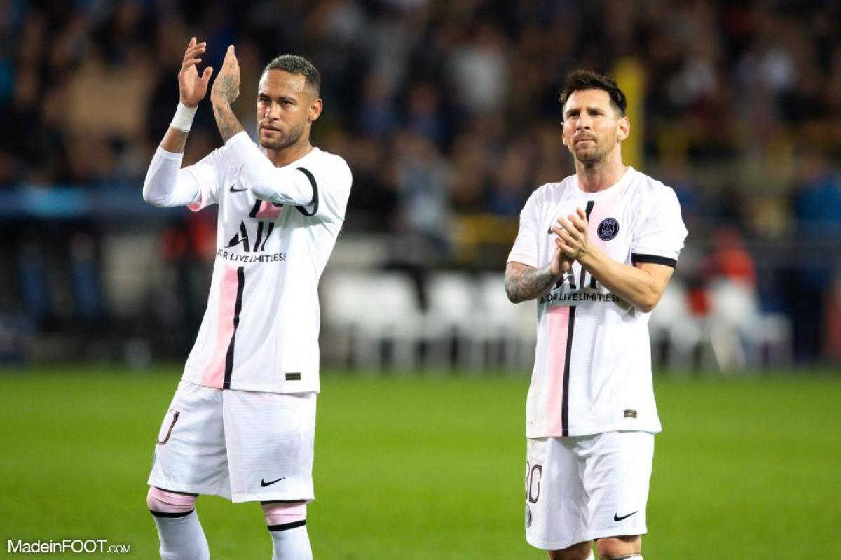 Neymar avec Messi au PSG