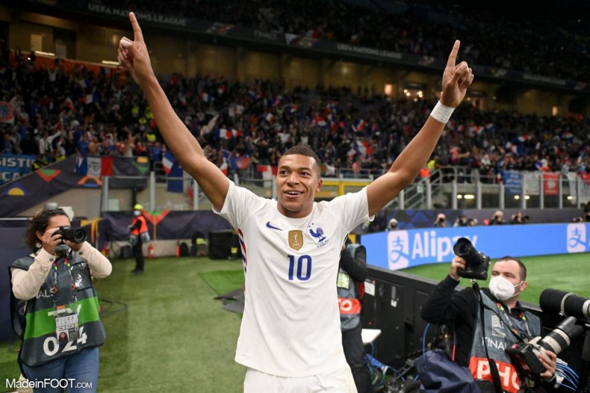 Kylian Mbappé, récent vainqueur de la Ligue des Nations avec l'Équipe de France
