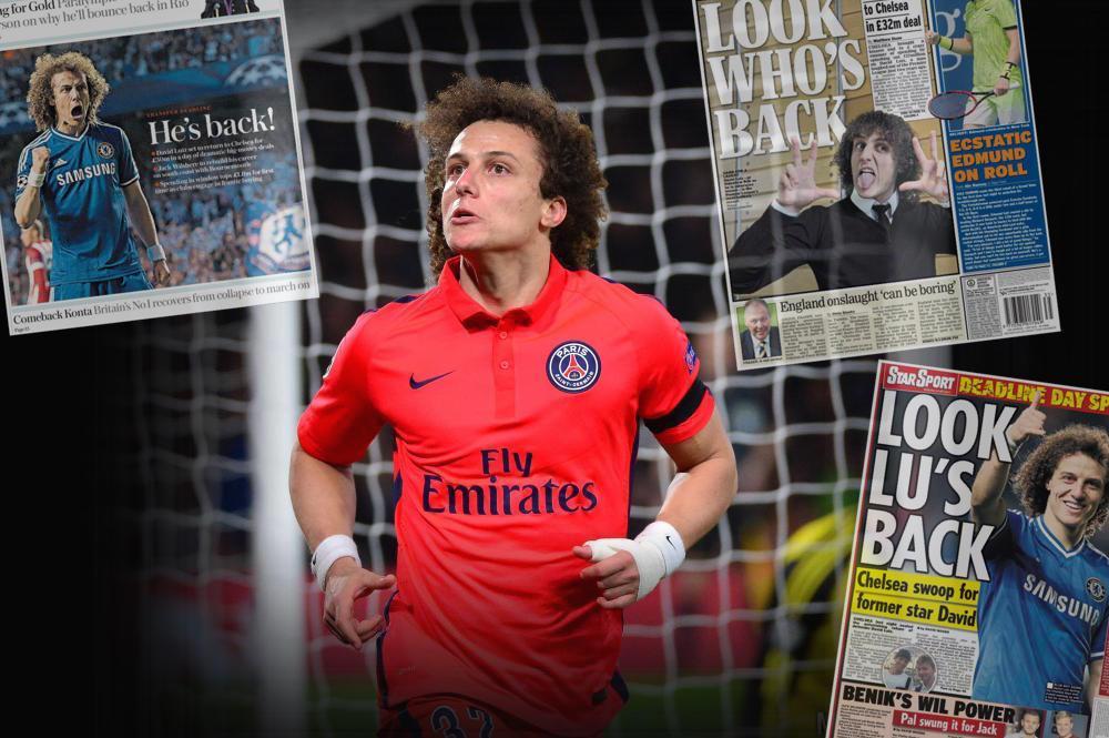 Les médias anglais émettent quelque réserve au bien-fondé du retour de David Luiz à Chelsea.