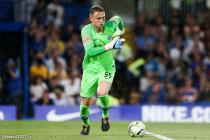 Goalkeeper Marcin Bulka of Chelsea chases the loose ball across his area during the International Champions Cup match between Chelsea and Olympique Lyonnais at Stamford Bridge Stadium, London. Picture date 7th August 2018.