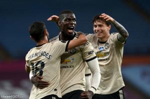 Paul Pogba célébrant un but avec Manchester United