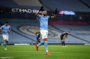 Pour sa troisième saison à Manchester City, Riyad Mahrez totalise 14 buts et 7 passes décisives